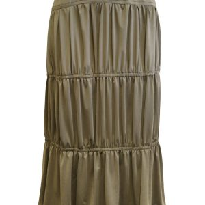 Khaki Tiered Skirt