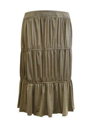 Khaki Tiered Skirt
