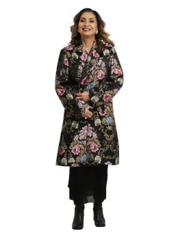 Duster Jacket - Black Brocade
