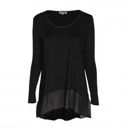 Kate Long Sleeve Tunic - Black