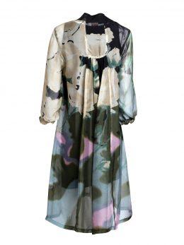 3/4 Sleeve Silk Dress Mary - Midnight Back