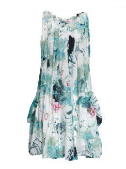 Pocket Dress - Green Lotus