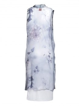GWEN SLEEVELESS DRESS – Silver Flower