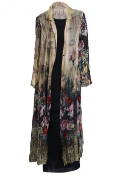 Duster Long Jacket - Olive Rose Brambles
