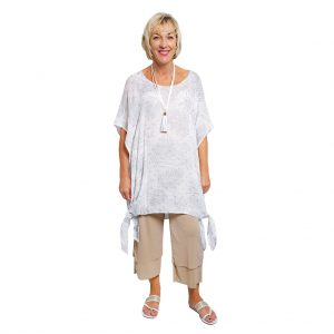 Gloria Kaftan Top - Silver Leaf