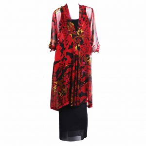 Mary 3/4 Sleeve Dress - Tropical Night