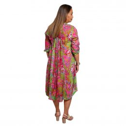 Mary 3/4 Sleeve Dress - Orchid