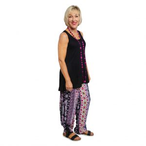 Lyn Pants - Cerise Stripe