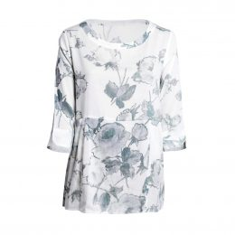 Dysie Top - White Cotton Flower