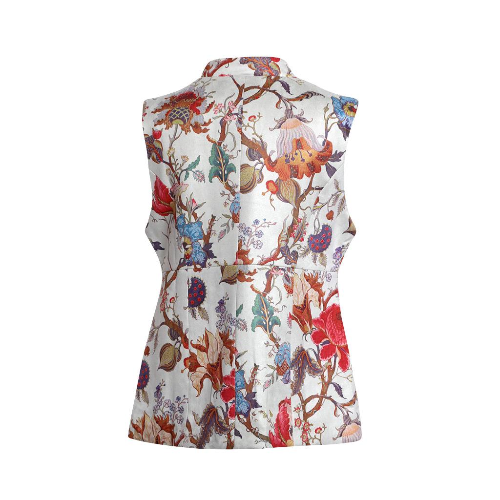 Spider Flower Faux Suede – Serena Vest – B