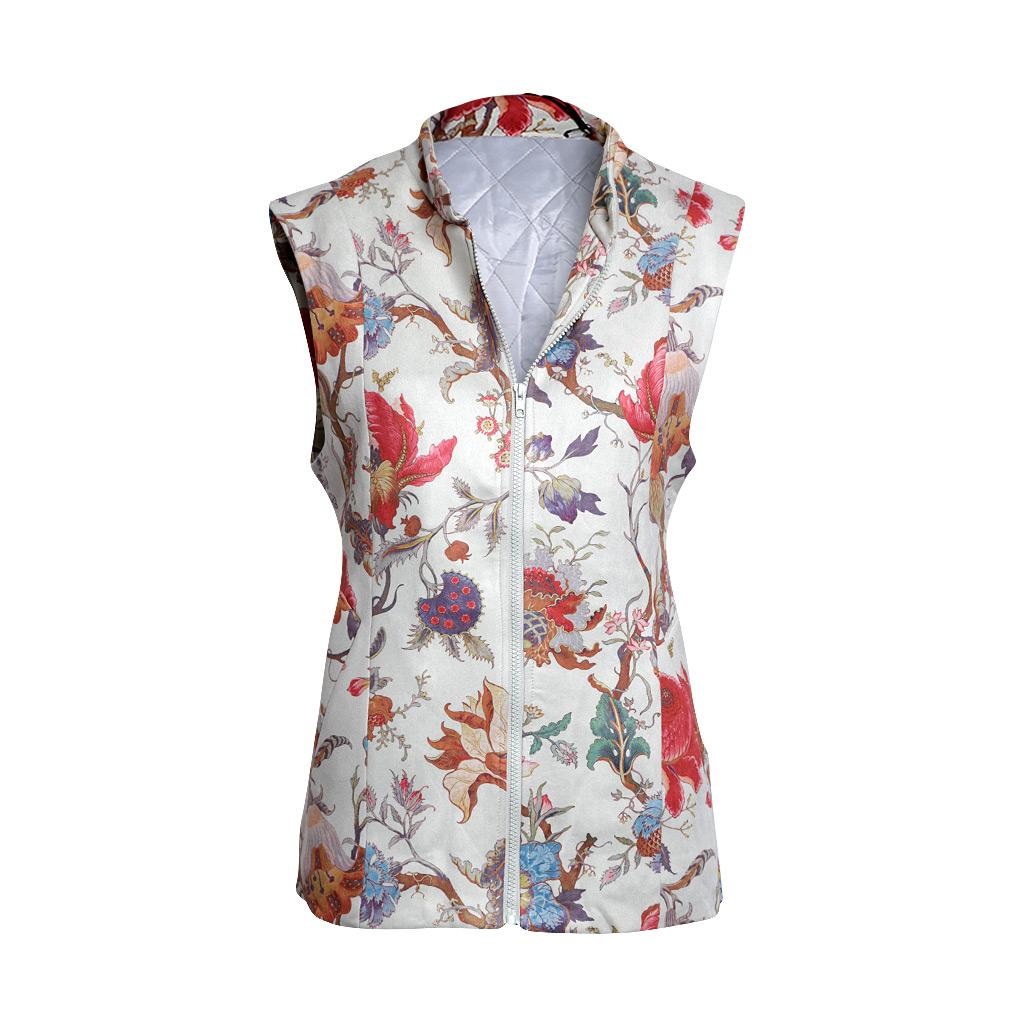 Spider Flower Faux Suede – Serena Vest – F