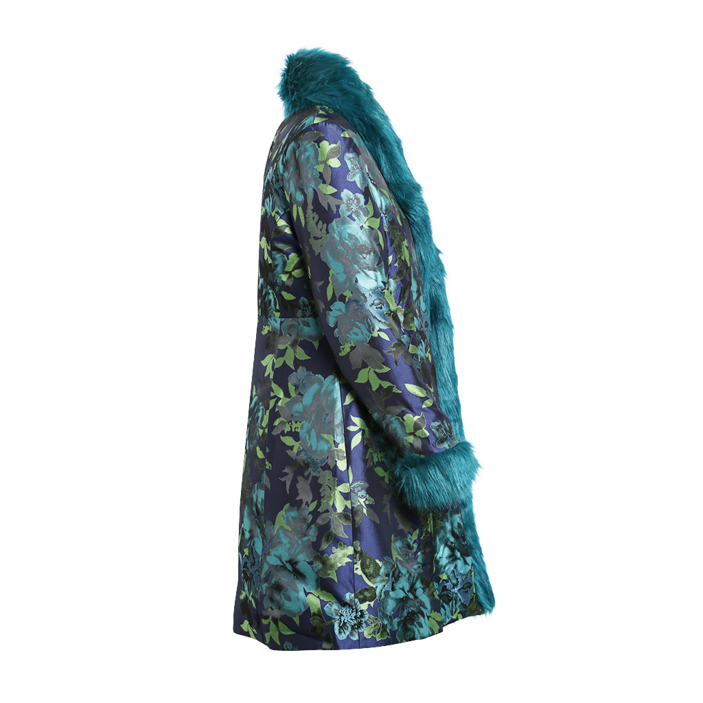 Teal Brocade – Duster – S