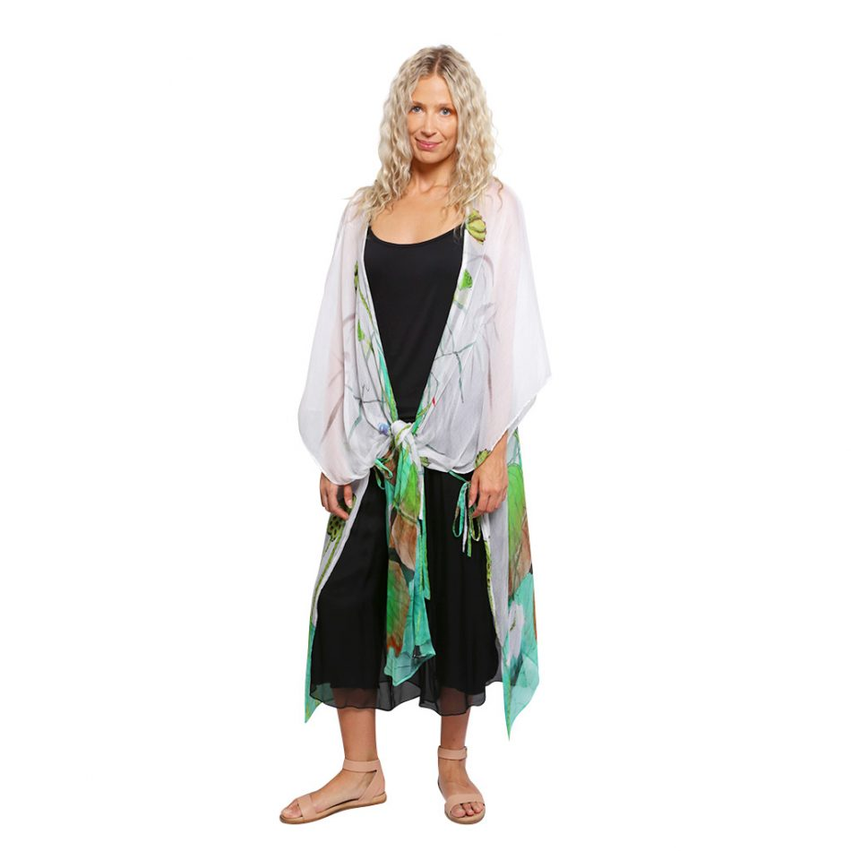 Silk Kaftan Lotus Pond