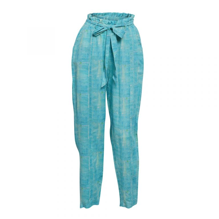 Turquoise Squares Pant F