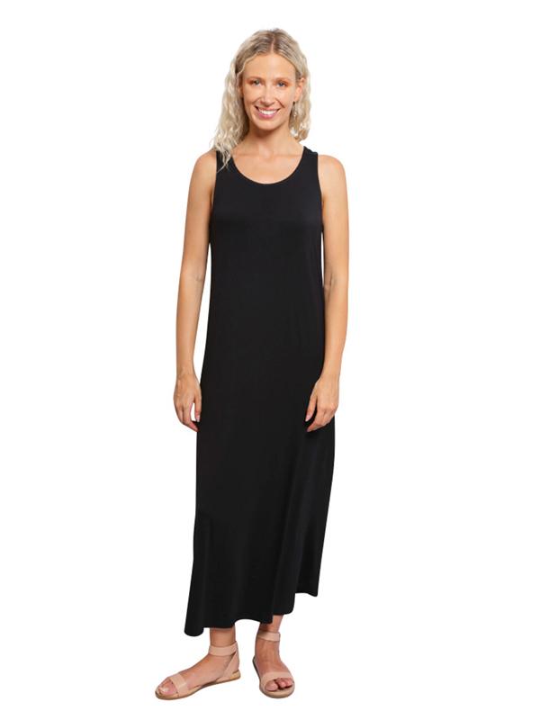 Bamboo Maxi Dress Black