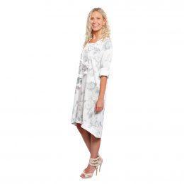 Liliana Dress - White Cotton Flower