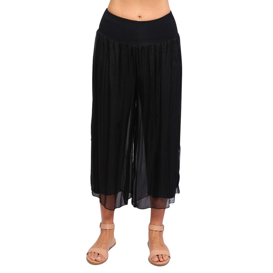 Silk-Pants-7-8-Black