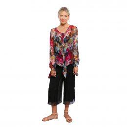 Silk Tie Jacket Winter Garden Model Shot Front