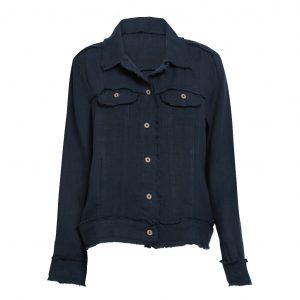 Raw Edge Linen Jacket