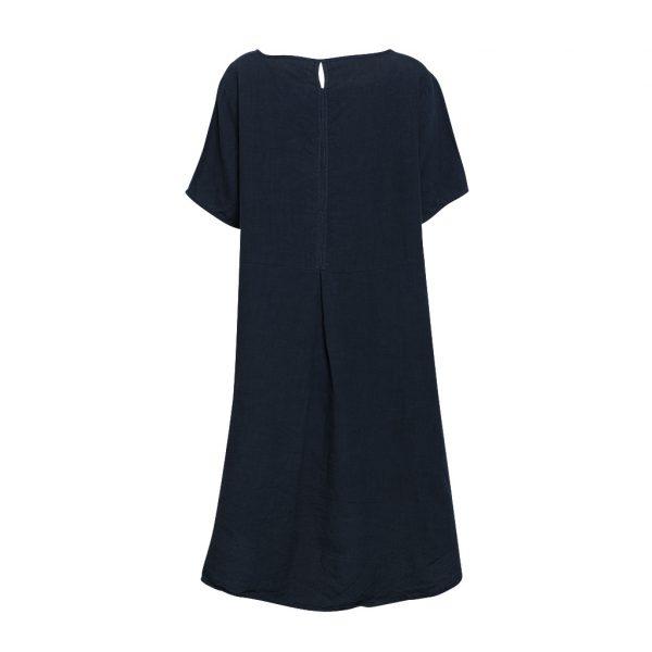 Linen T-Shirt Dress Ink Back