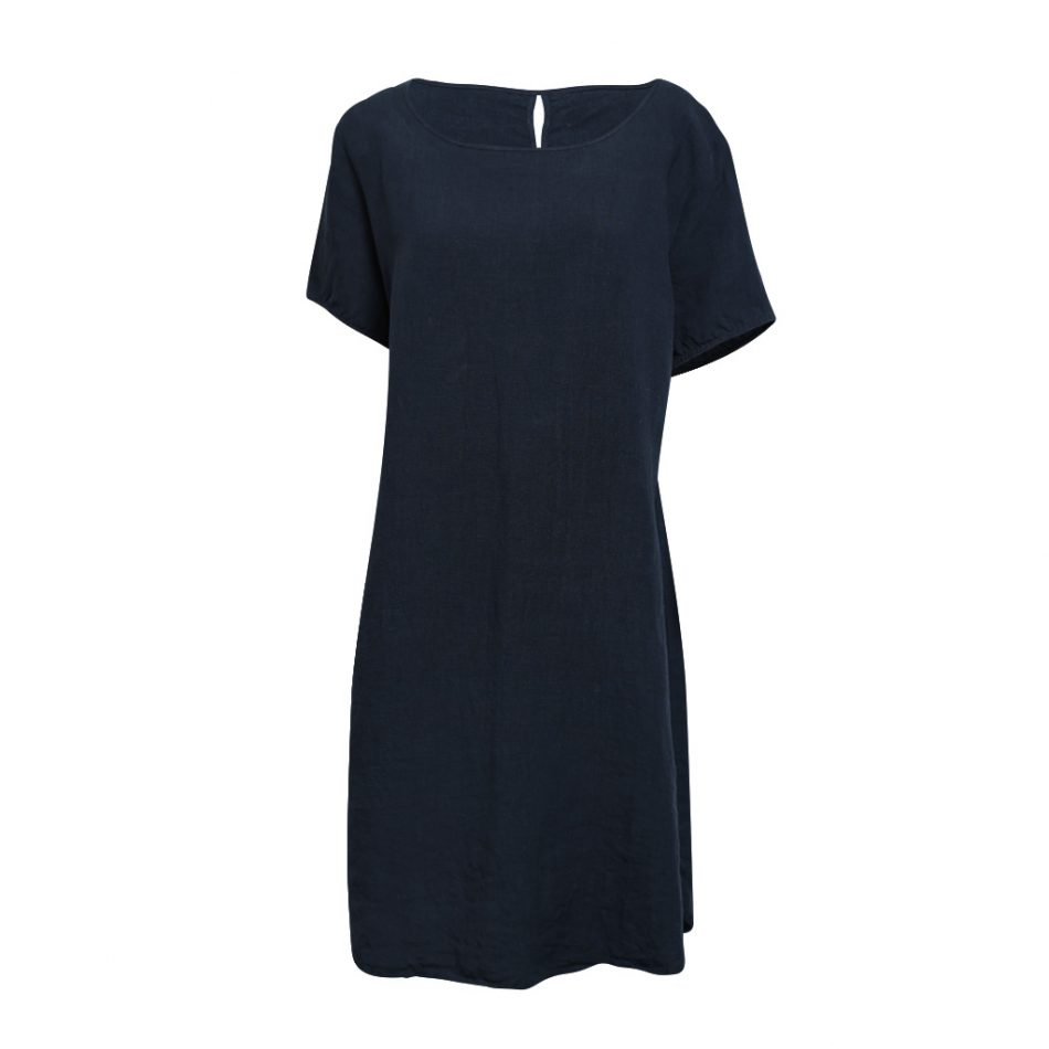Linen T-Shirt Dress Ink