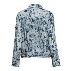 Linen Jacket Tree Silhouette Back