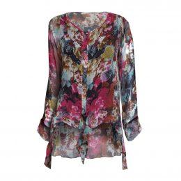 Silk Tie Jacket Winter Garden Front