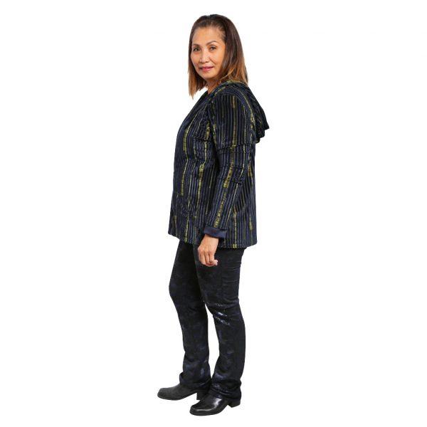 Black/Navy Straight Leg Pant