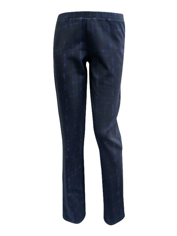 NAVY-GRID STRAIGHT LEG PANT Deep Etched