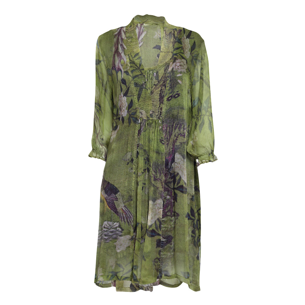 Mary Silk Dress Ibis Front