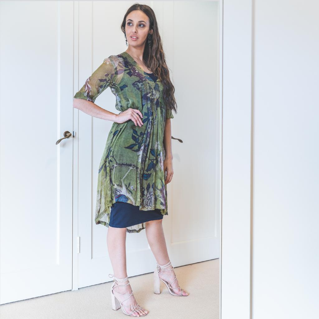 Mary Silk Dress Ibis