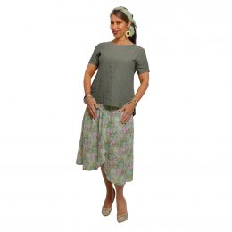 Frankie Linen T-shirt Sage