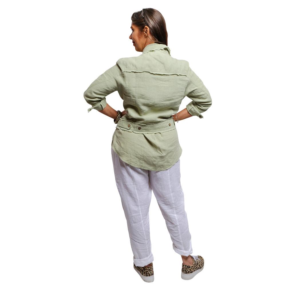 Raw Edge Line Jacket Leaf Back