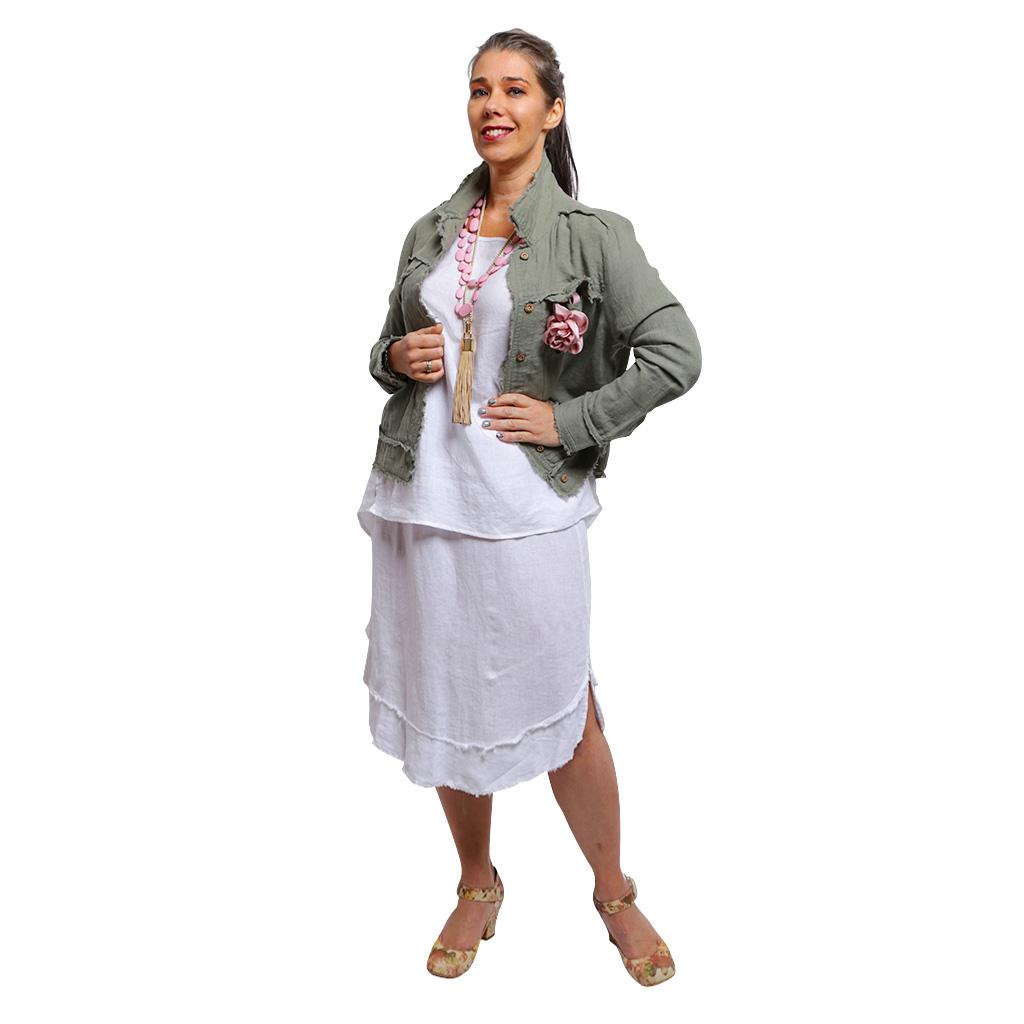 Linen Jacket Sage
