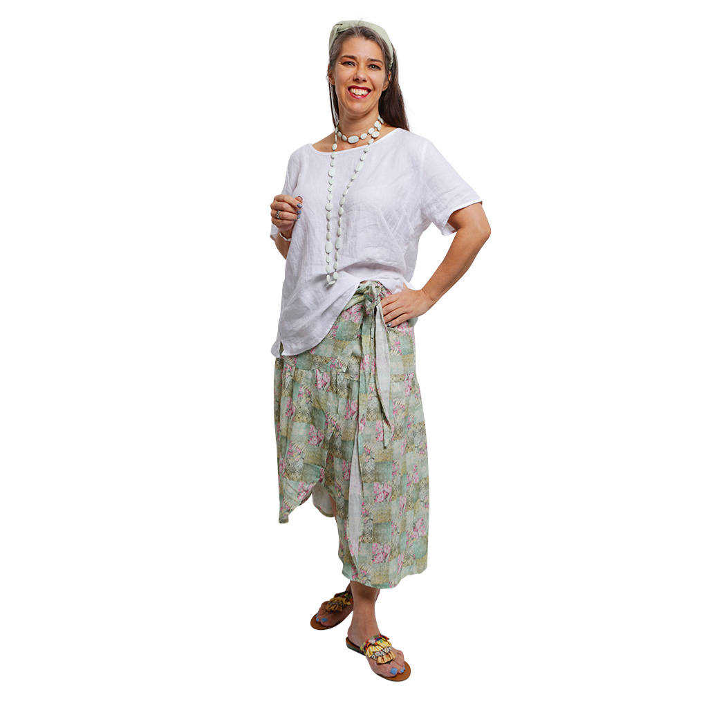 WRAP SKIRT SPRING PATCHWORK F 3