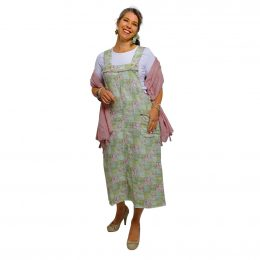 Linen Pinafore Dress - Spring Patchwork