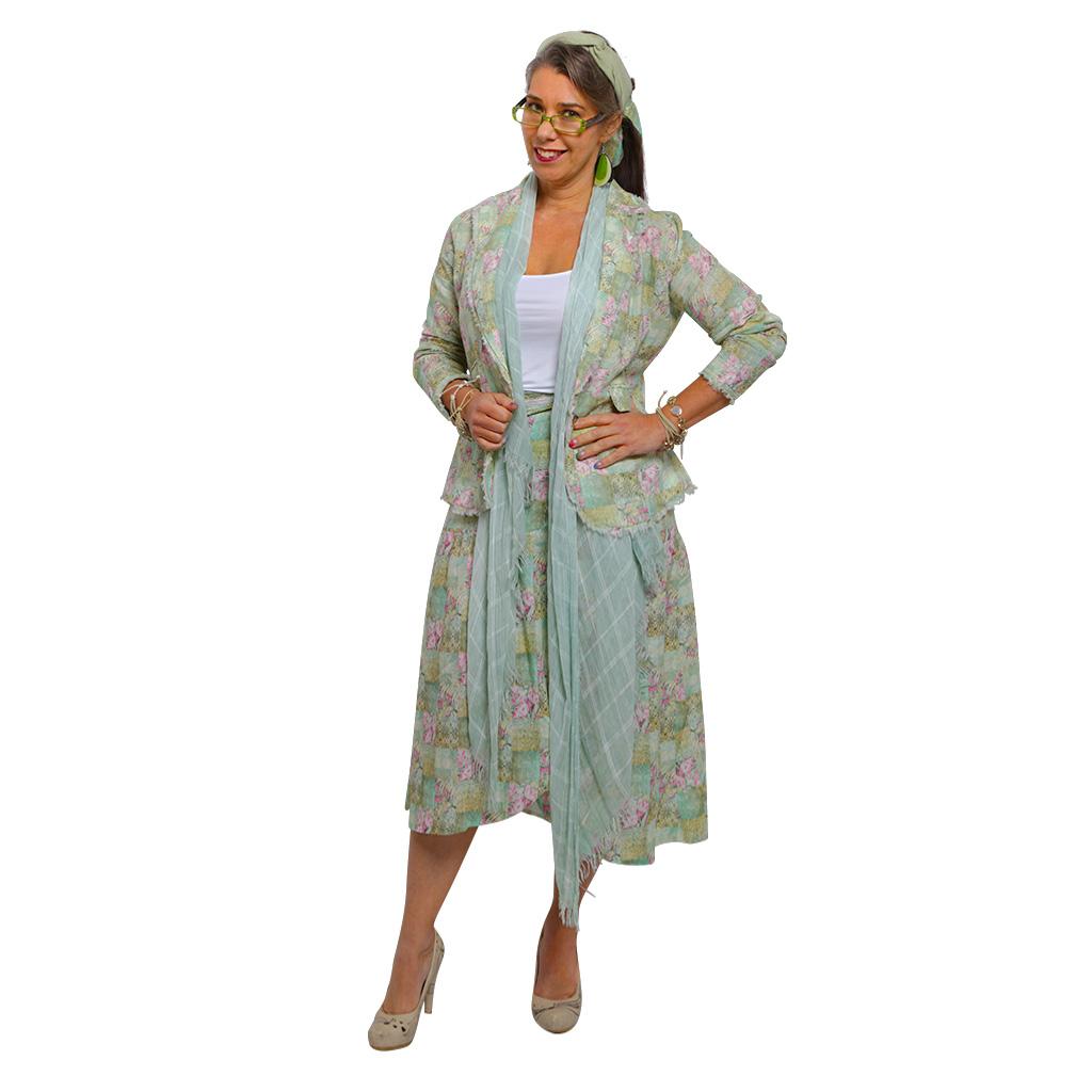 linen wrap skirt spring patchwork 2
