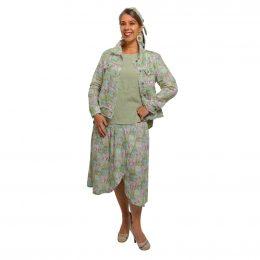 Linen Wrap Skirt - Spring Patchwork