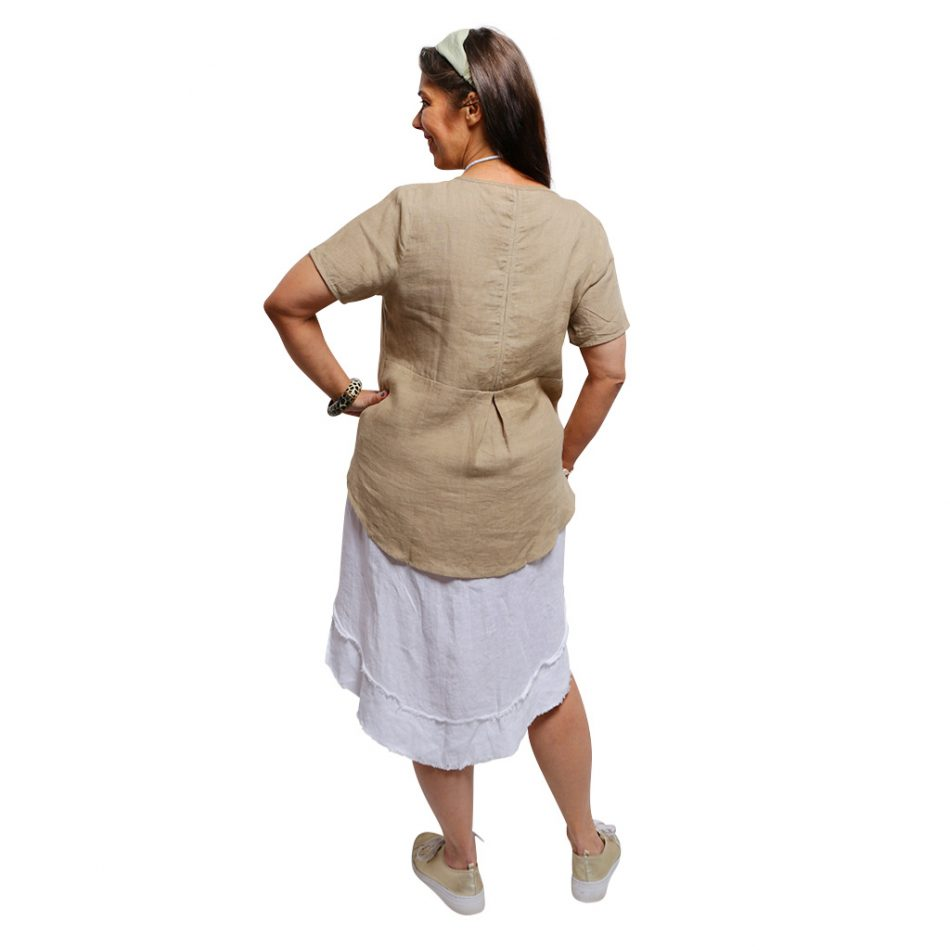 Linen Top Camel - Back