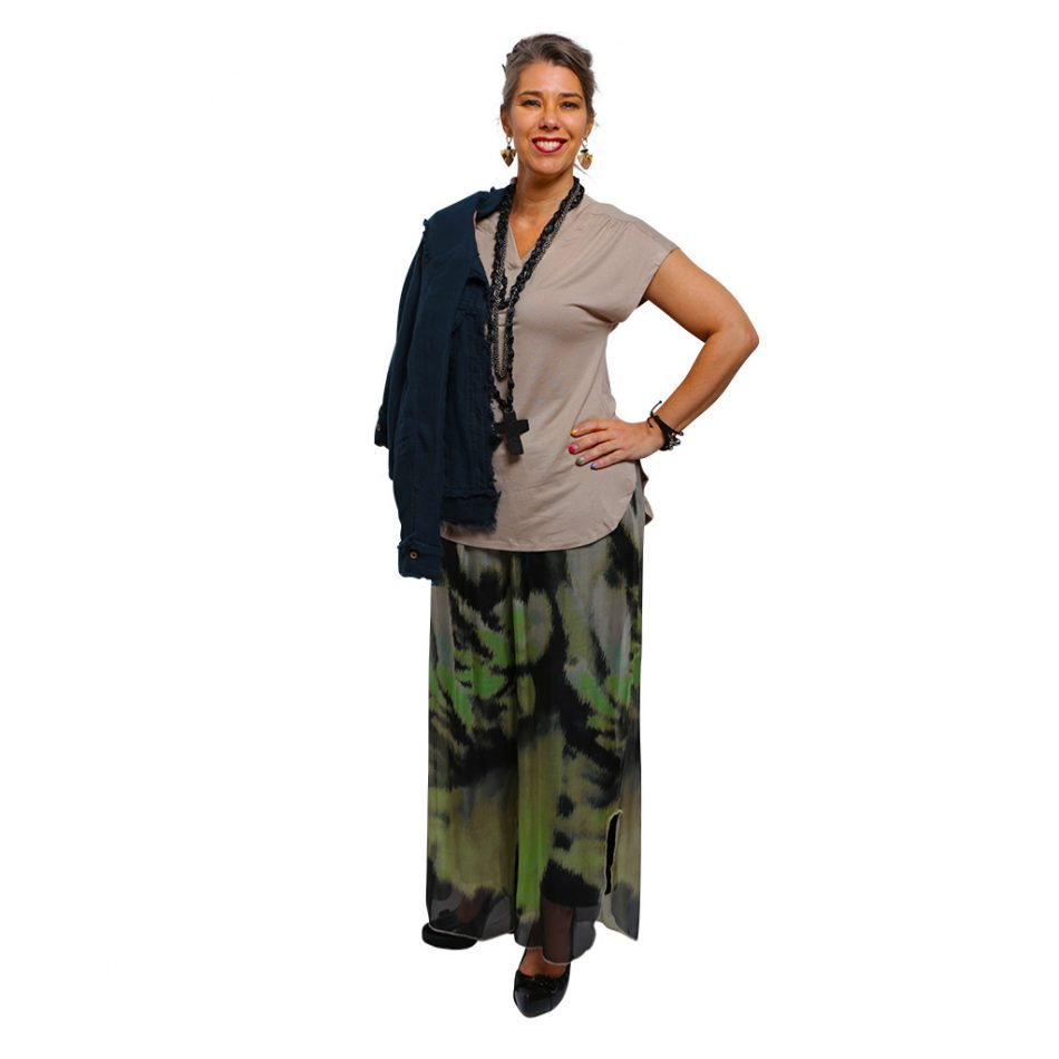 Linen Full Length Silk Pant - Waterfall