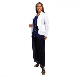 Silk Pant Full Length Navy