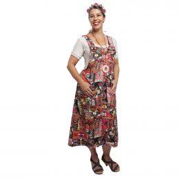 Linen Pinafore Dress - Shisha