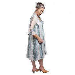 Mary 3/4 Sleeve Dress Silk - Morse Code