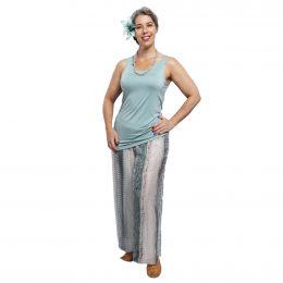Silk Pants Full Length - Morse Code