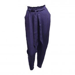 Georgia Linen Pant - Cobalt
