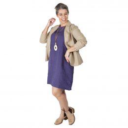 Lexi Linen Dress - Cobalt