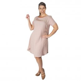 Frankie Linen Dress - Shell