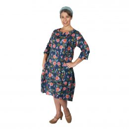 Lily Linen Dress - BLUE ROSE