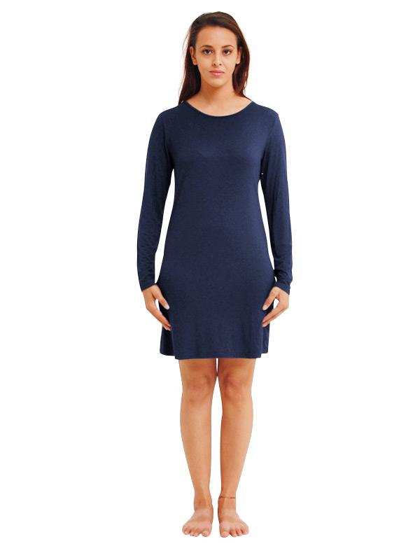 Madison Long Sleeve Dress 220GSM - Navy
