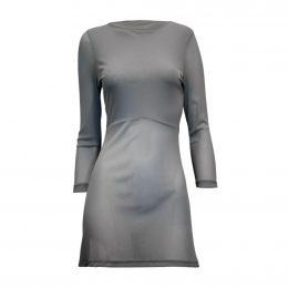 Rosie Net 3/4 Sleeve Top - Grey